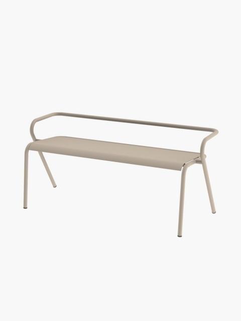 Metallic bench in Beige