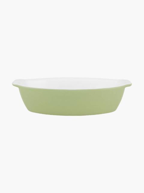 Assadeira Oval 28 Verde/Branco