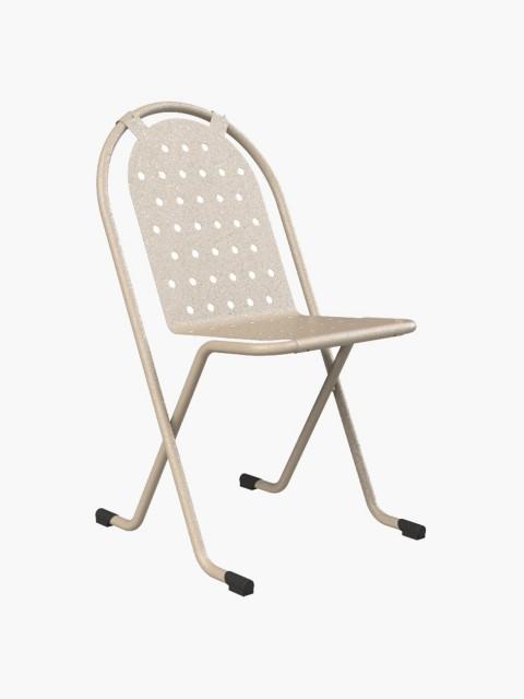 Cadeira Metálica Bege