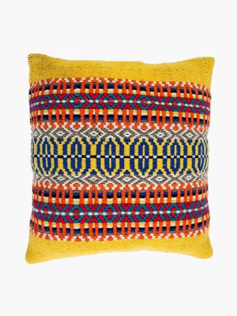 Capa de almofada em lã Amarelo