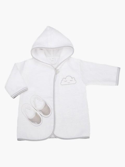 Albornoz + Zapatillas de bebé