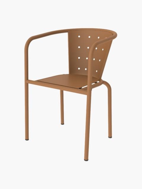 Cadeira Metálica Terracota