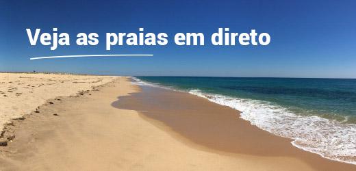Veja as praias em direto